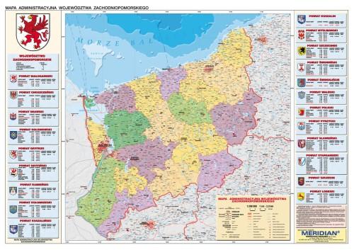 Wojewodztwo Zachodniopomorskie Mapa Administracyjna Wydawnictwo