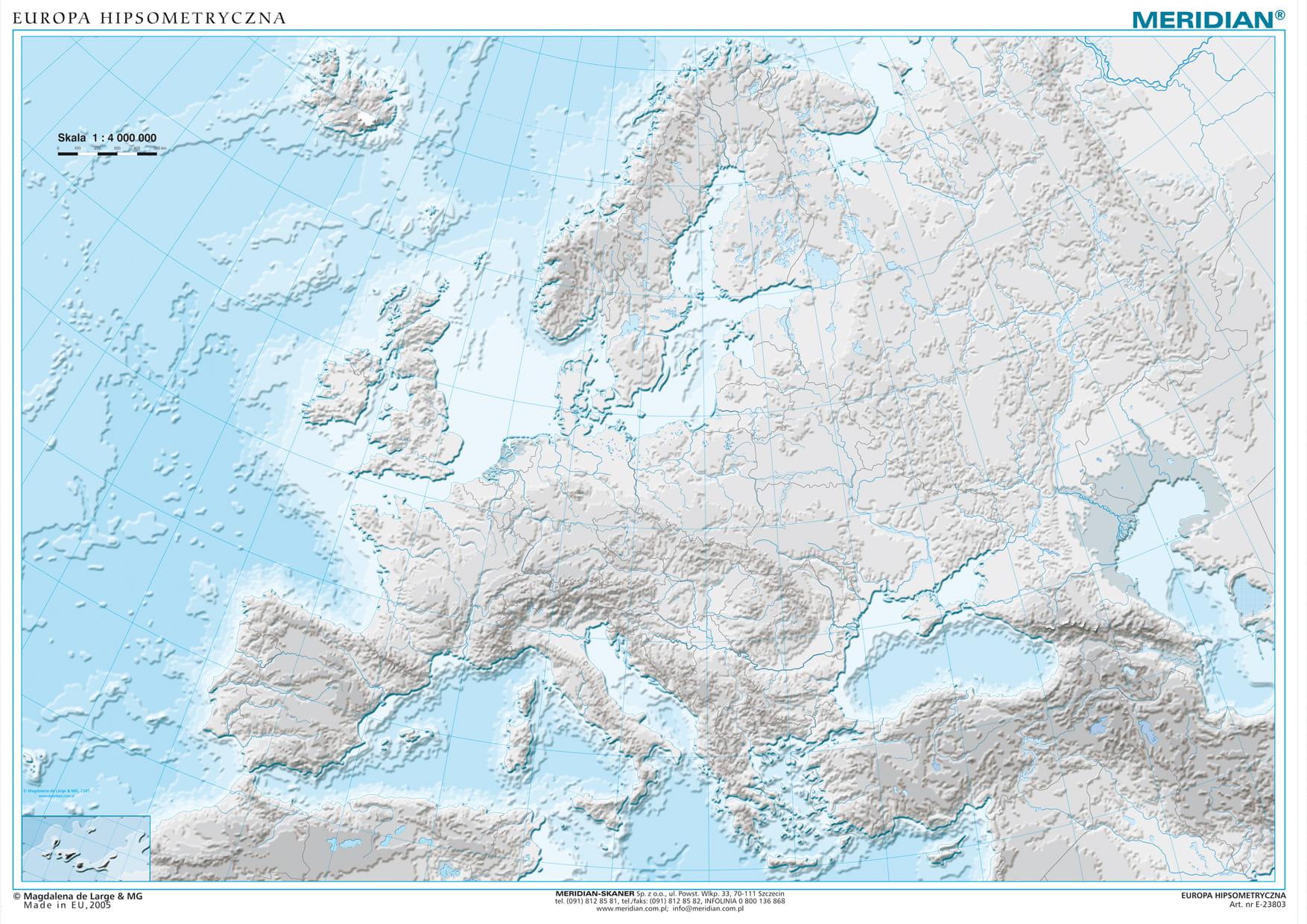 Europa Fizyczna Z Elementami Ekologii Europa Konturowa Wydawnictwo